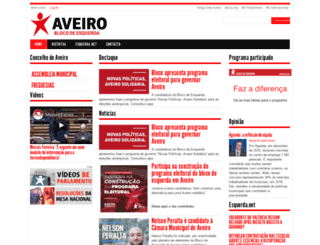 aveiro.bloco.org screenshot