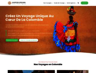 aventurecolombia.com screenshot