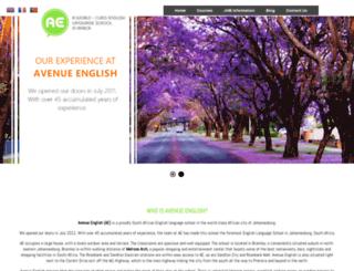 avenue-english.org screenshot