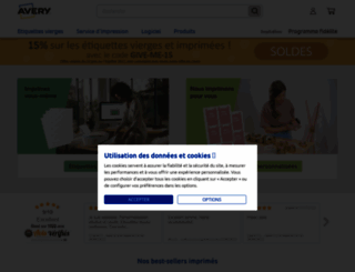 avery.fr screenshot