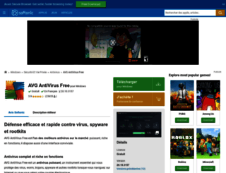 avg-anti-virus-free.softonic.fr screenshot