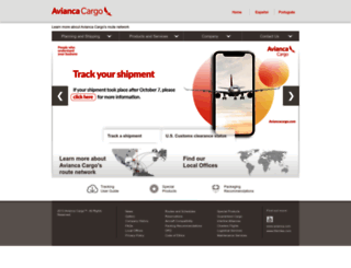 aviancacargo.com screenshot