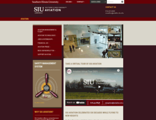 aviation.siu.edu screenshot