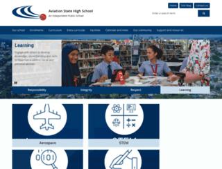 aviationhigh.eq.edu.au screenshot