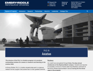 aviationphd.erau.edu screenshot