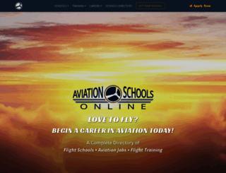 aviationschoolsonline.com screenshot