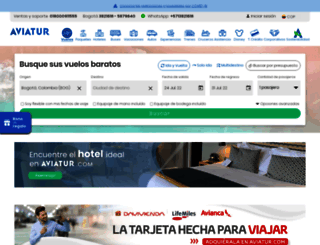 aviatur.com screenshot