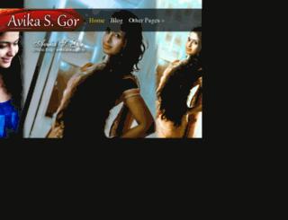 avikasgor.in screenshot