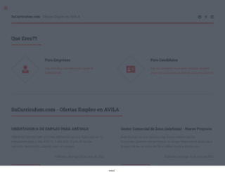 avila.sucurriculum.com screenshot