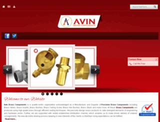avinbrasscomponents.in screenshot