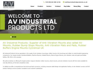 avindustrialproducts.co.uk screenshot