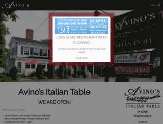 avinositaliantable.com screenshot