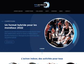 aviron-indoor.fr screenshot