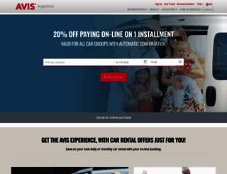 avis.com.ar screenshot
