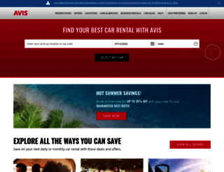 avis.com screenshot
