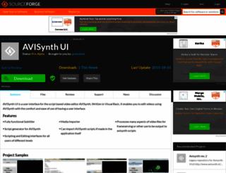 avisynthui.sourceforge.net screenshot