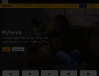 aviva.co.uk screenshot