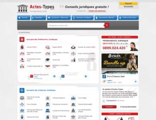avocat-annuaire.actes-types.com screenshot