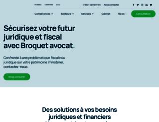 avocat-broquet.fr screenshot