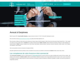 avocat-hoc.be screenshot