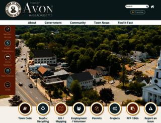 avon-ma.gov screenshot