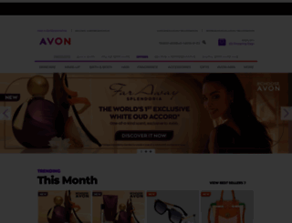avon.co.za screenshot