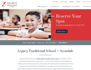 avondale.legacytraditional.org screenshot