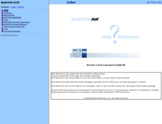 avrhelp.mcselec.com screenshot