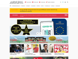 avrupagazete.com screenshot