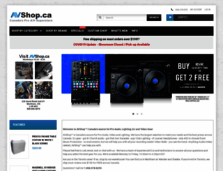 avshop.ca screenshot
