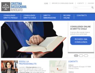 avvocatobassignana.it screenshot