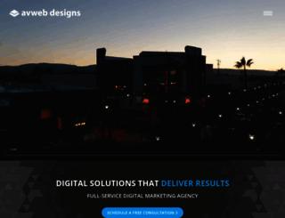 avwebdesigns.com screenshot