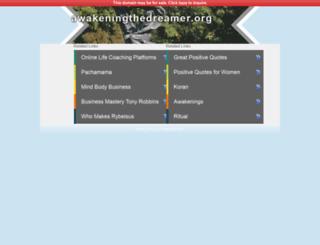 awakeningthedreamer.org screenshot