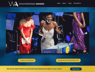 awards.whatsonstage.com screenshot