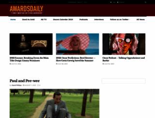 awardsdaily.com screenshot