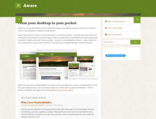 aware-theme.nationbuilder.com screenshot
