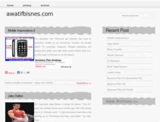 awatifbisnes.com screenshot