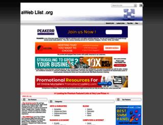aweblist.org screenshot