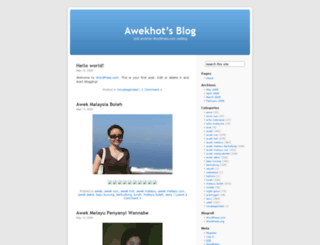 awekhot.wordpress.com screenshot