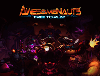 awesomenauts.com screenshot