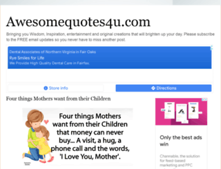 awesomequotes4u.com screenshot
