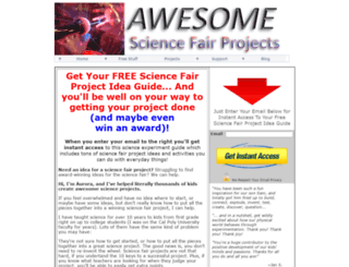 awesomescienceprojects.com screenshot
