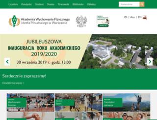awf.edu.pl screenshot