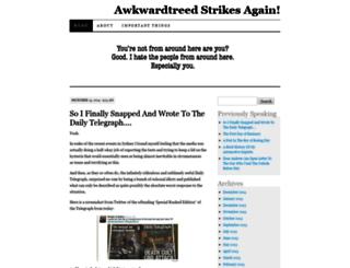 awkwardtreedstrikesagain.wordpress.com screenshot
