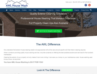 awlhousewash.co.nz screenshot