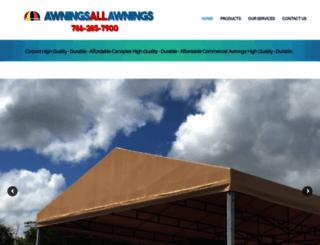 awningsallawnings.com screenshot