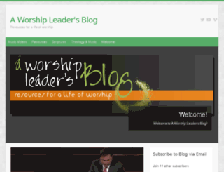 aworshipleadersblog.com screenshot