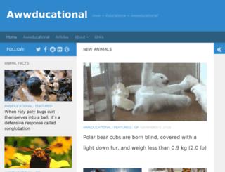 awwducational.net screenshot