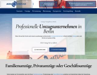 axa-umzug.de screenshot