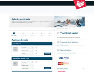 axamer-lizum.skiticketshop.com screenshot